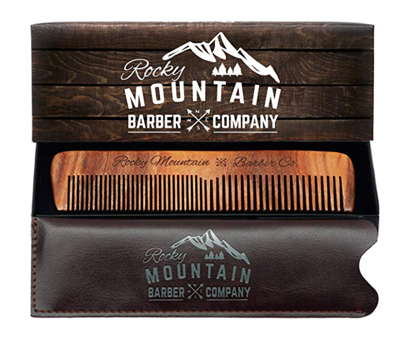 rocky mountain barber company wooden comb for men