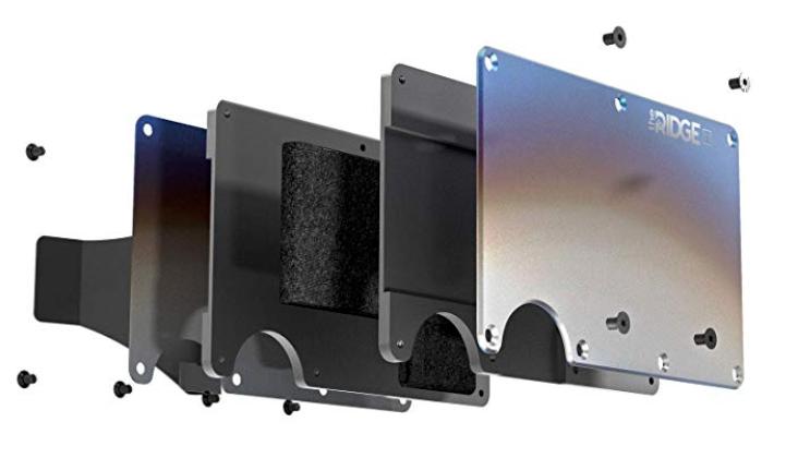 The Ridge Titanium metal wallet construction