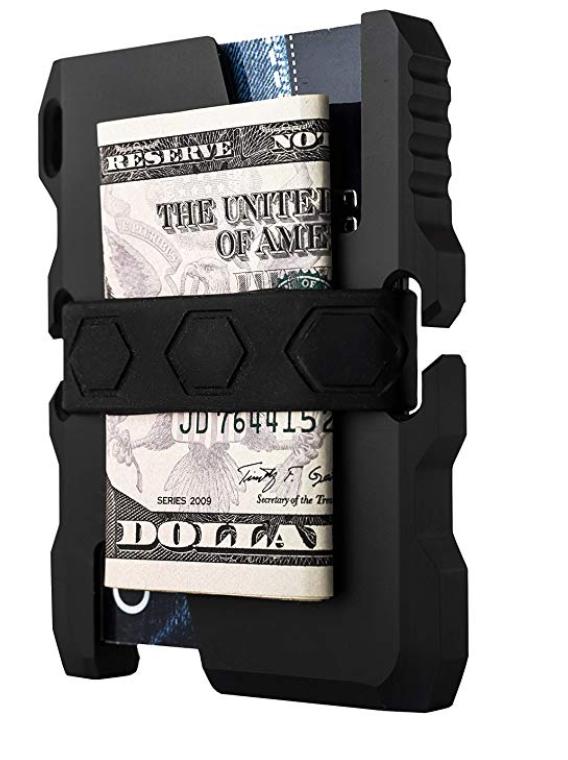 Calti Tactical EDC slim metal wallet back