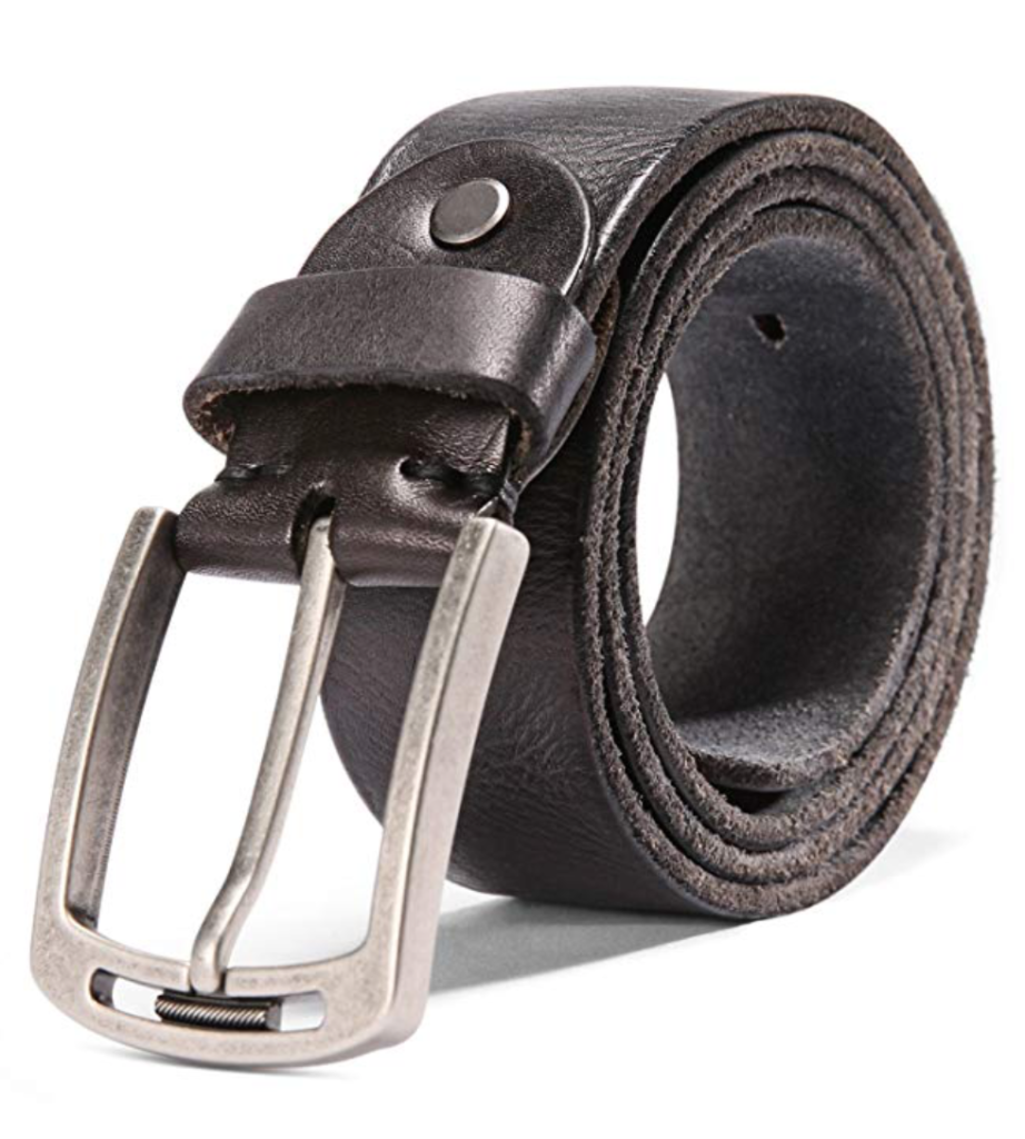 HYHZ men's Brown Italian leather belt