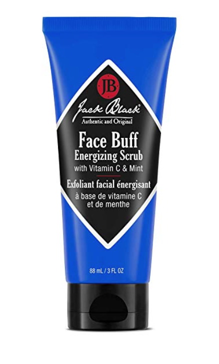 Jack Black Face Buff Energizing Scrub - Exfoliating Face Wash 3 oz tube