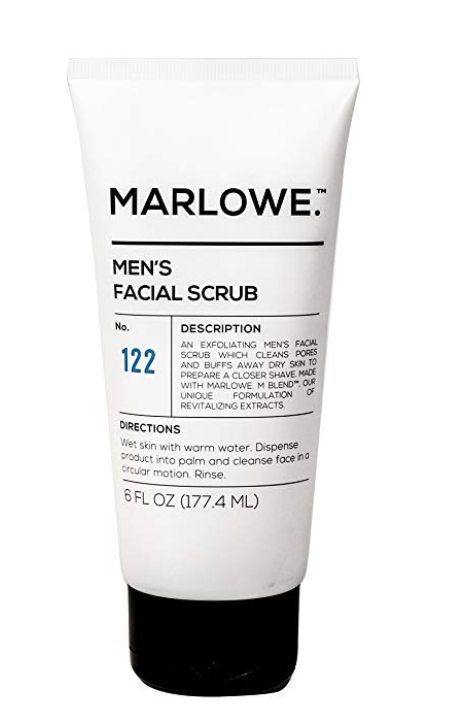 MARLOWE NO.122 Men's Facial Scrub - Exfoliating Face Cleanser 6 oz tube
