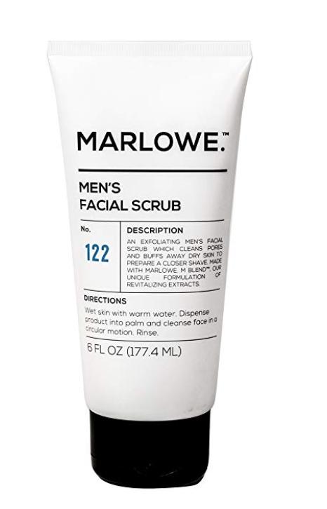 MARLOWE NO.122 Men's Facial Scrub - Exfoliating Face Cleanser 6 oz tube