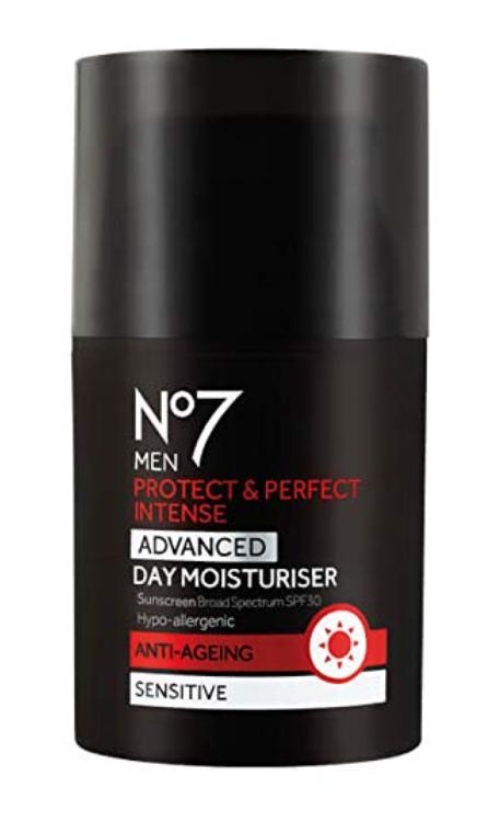 NO7 MEN'S PROTECT & PERFECT INTENSE ADVANCED MOISTURIZER SPF 30