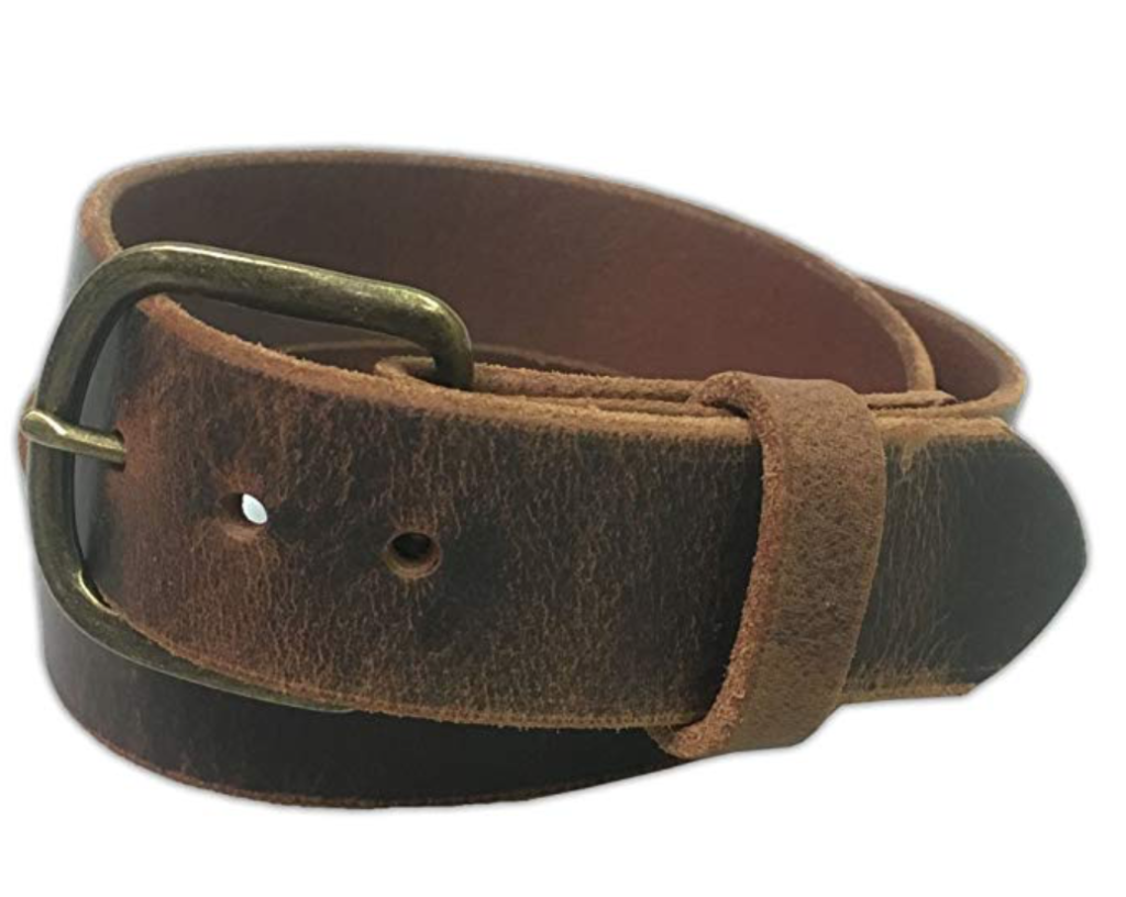 exos water buffalo leather belt