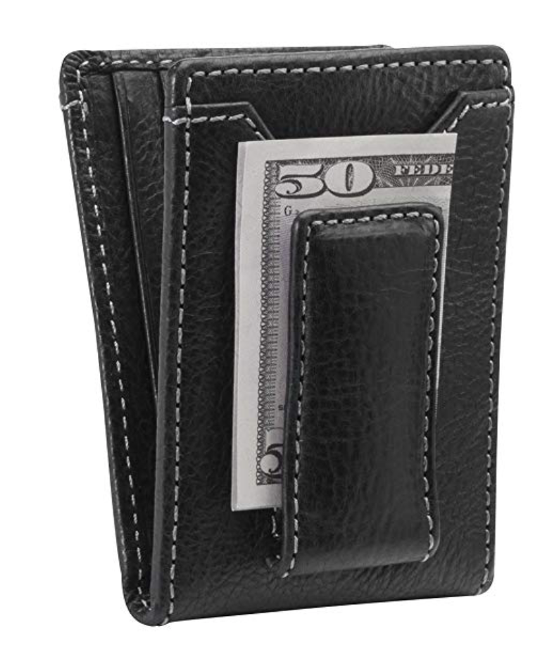 house of jack ivar slim bifold wallet with money clip