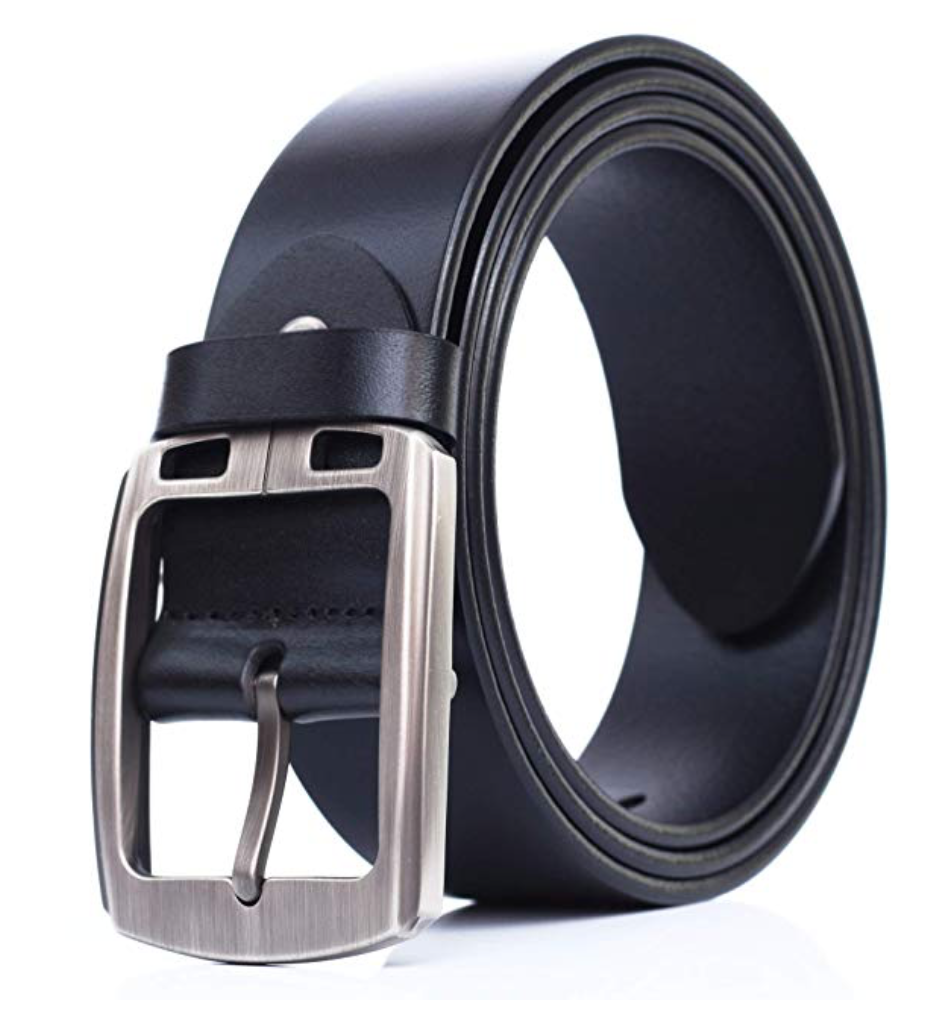 mileke full grain leather belt black