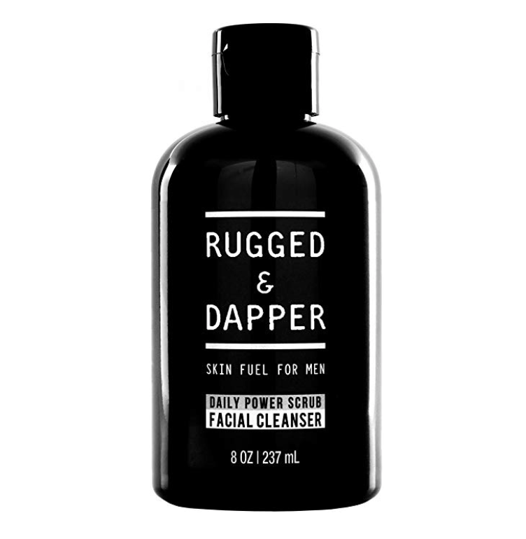 Bottle of Rugged and Dapper facial cleanser - best men's face wash for oily skin