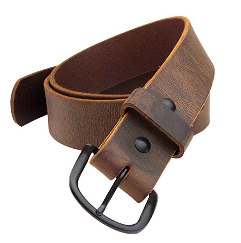 the bootlegger leather belt brown