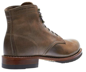 Wolverine Evans 1000 Mile boot stone leather angle