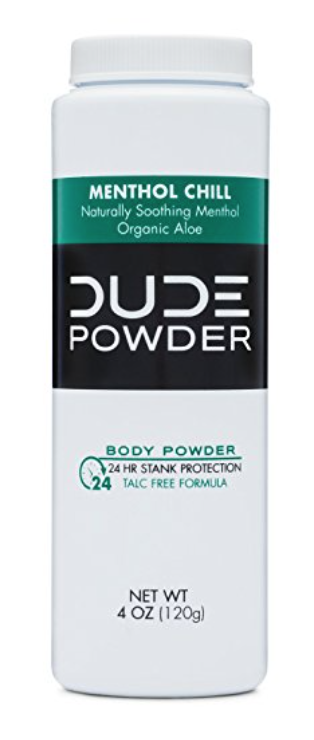 4oz bottle of Dude Powder menthol chill
