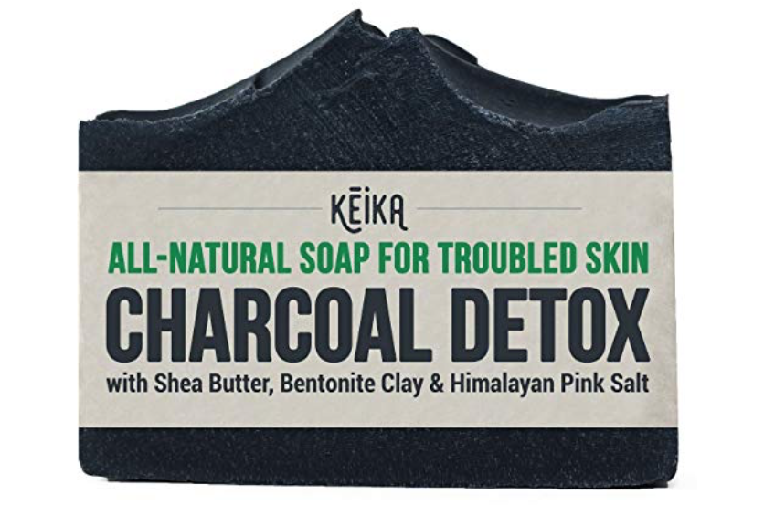Bar of Keika Naturals charcoal detox best charcoal bar soap
