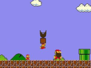 Super Mario Gaining Beard Power
