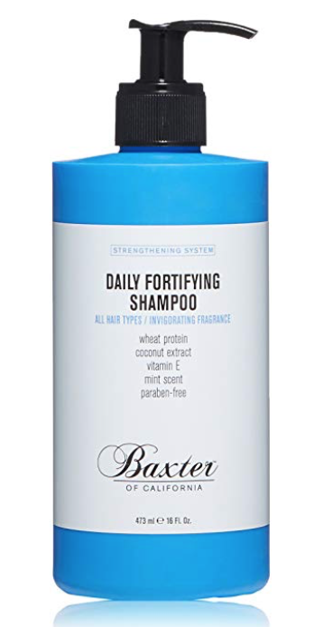 Baxter of California daily fortifying shampoo for men 16 ounce pump bottle
