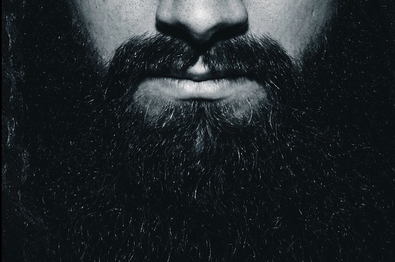 Up close image of a man with a beard