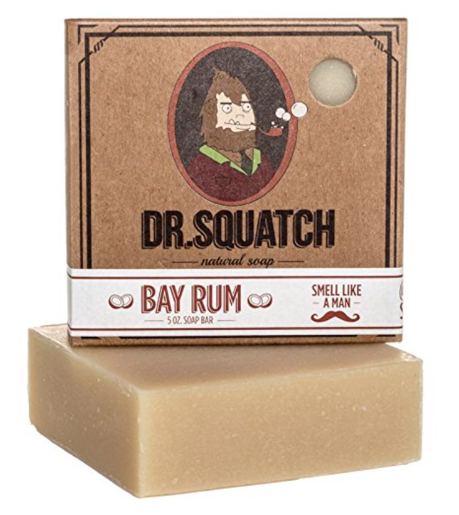 Dr. Squatch Bay Rum bar soap for men 5 ounce bar