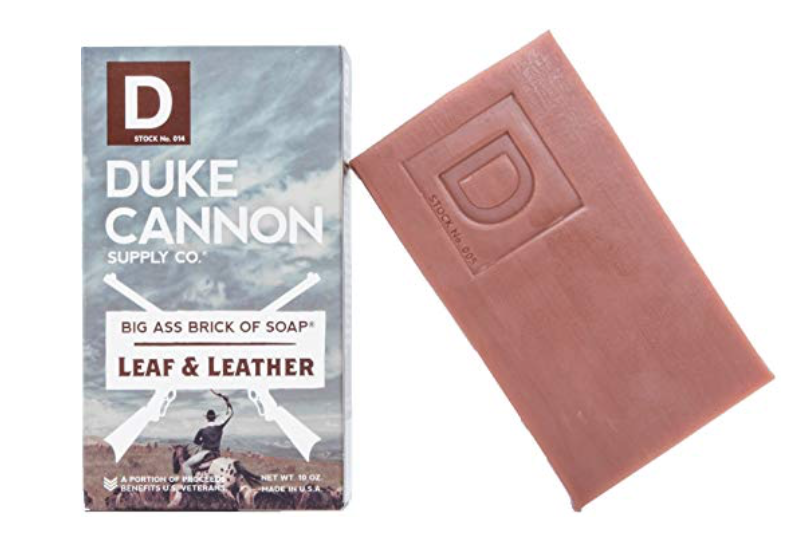 Duke Cannon Leaf & Leather bar soap for men 10 ounces