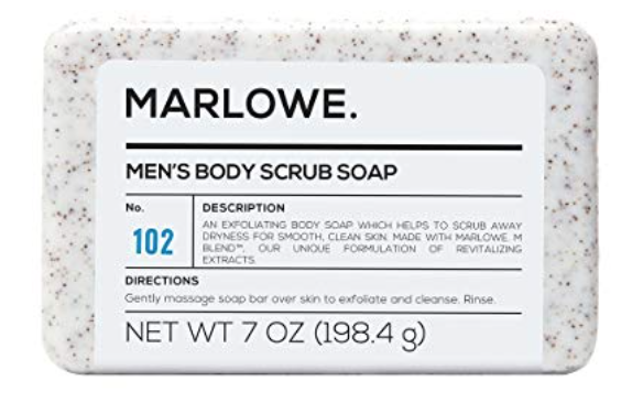 Marlowe no. 102 men's exfoliating bar soap 7 ounces