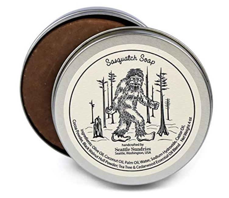 Sasquatch Soap exfoliating bar soap 4 ounces in tin