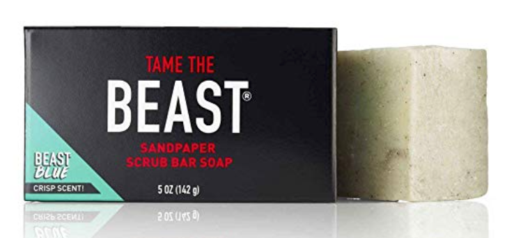 Tame the Beast Sandpaper exfoliating bar soap for men 5 ounces