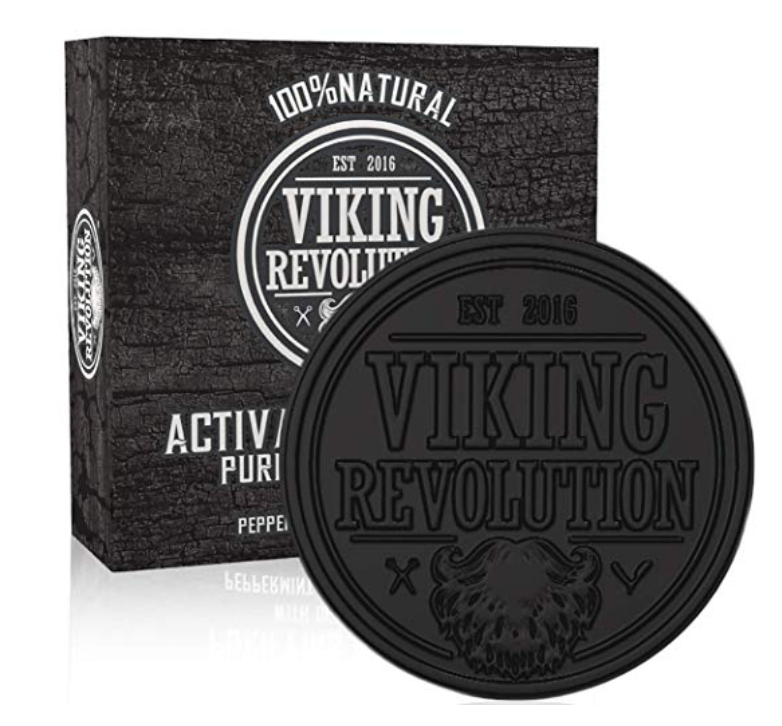 Viking Revolution best Charcoal bar soap for men 7 ounces