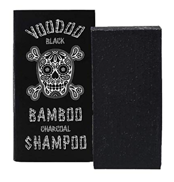 Voodoo Charcoal shampoo bar soap for hair with packaging