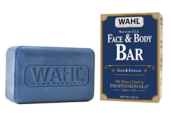 Wahl face and body bar soap with packaging