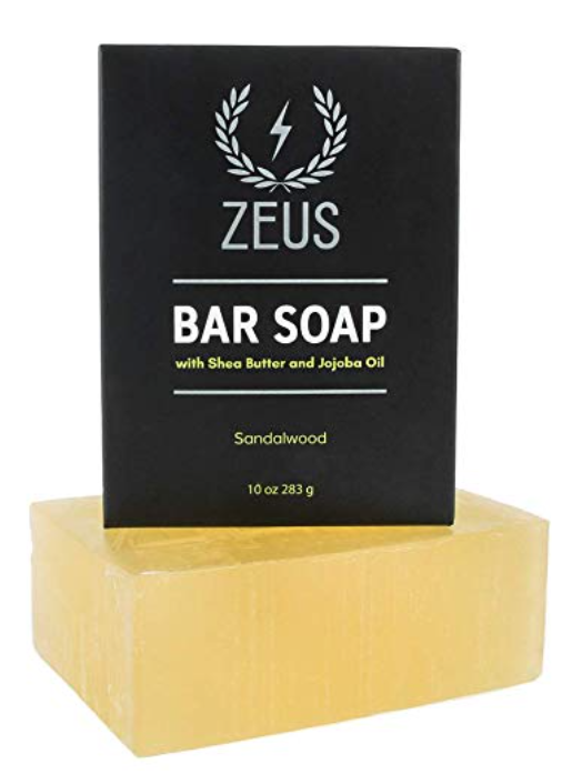 ZEUS bar soap for face and body 10 ounce with packaging