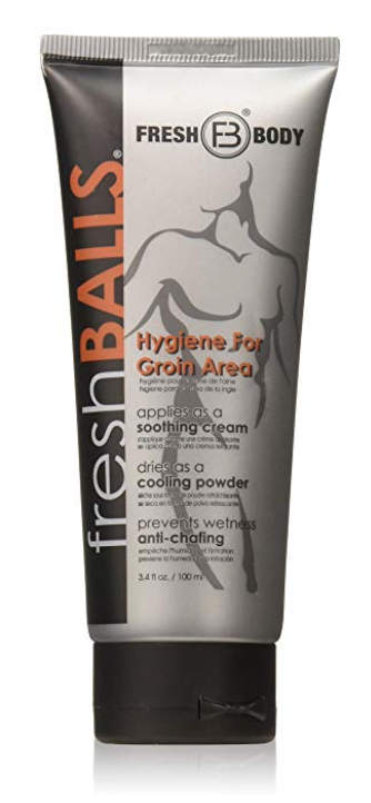 3.4 oz bottle of Fresh Balls lotion for men's balls