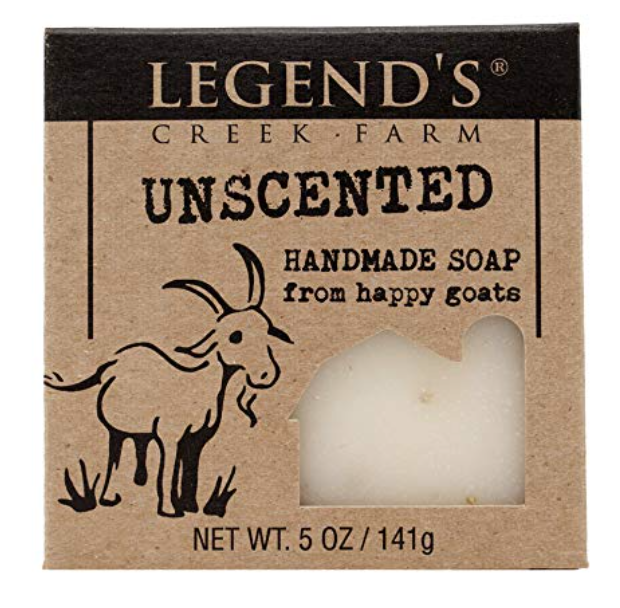 Legend's Creek Farm unscented bar soap for sensitive skin 5 ounces