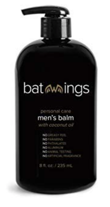 8 ounce bottle of Batwings lotion for men's balls