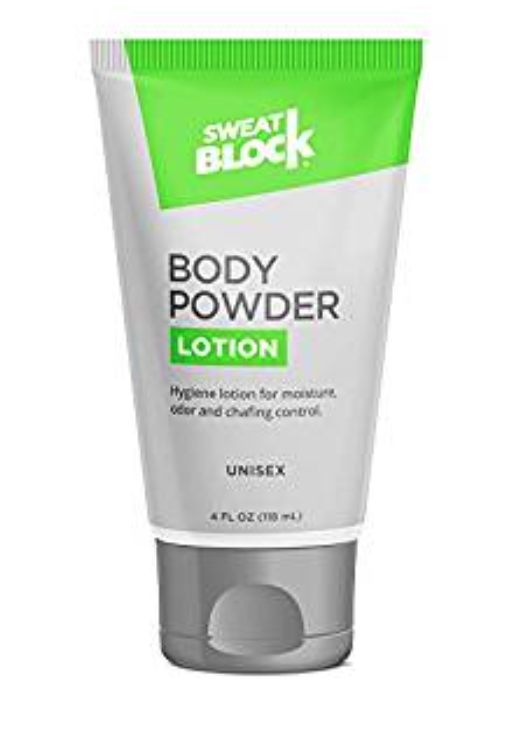 SweatBlock ball and body lotion 4 ounce tube