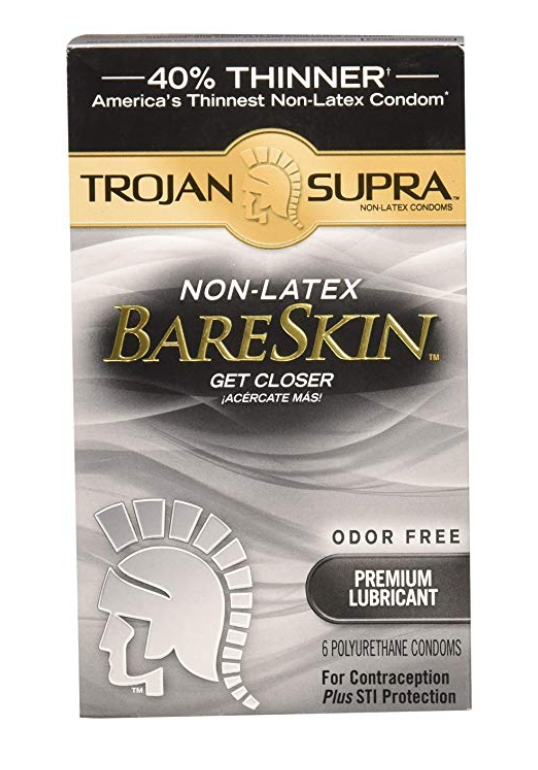 One box of Trojan Supra non-latex condoms for sensitive skin