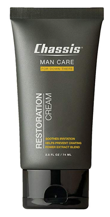 2.5 ounce tube of Chassis Restoration Cream for men's balls and body