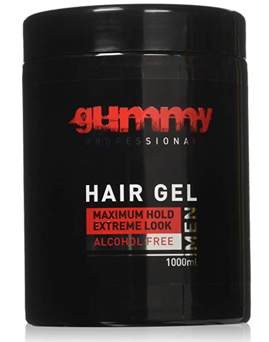 Jar of Gummy maximum hold hair gel for men