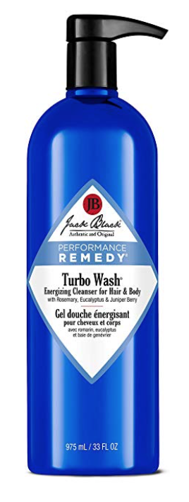 33 ounce bottle of Jack Black Turbo Wash for mens body and balls