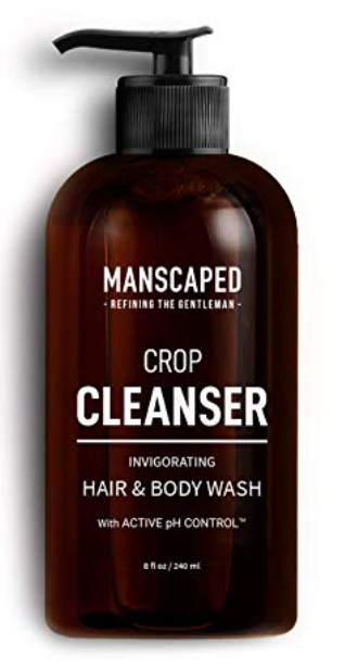 8 ounce bottle of Manscaped Crop cleanser soap for men's balls