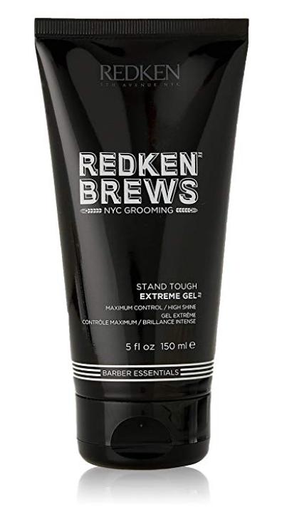 Tube of Redken Brews extreme hold hair gel for men