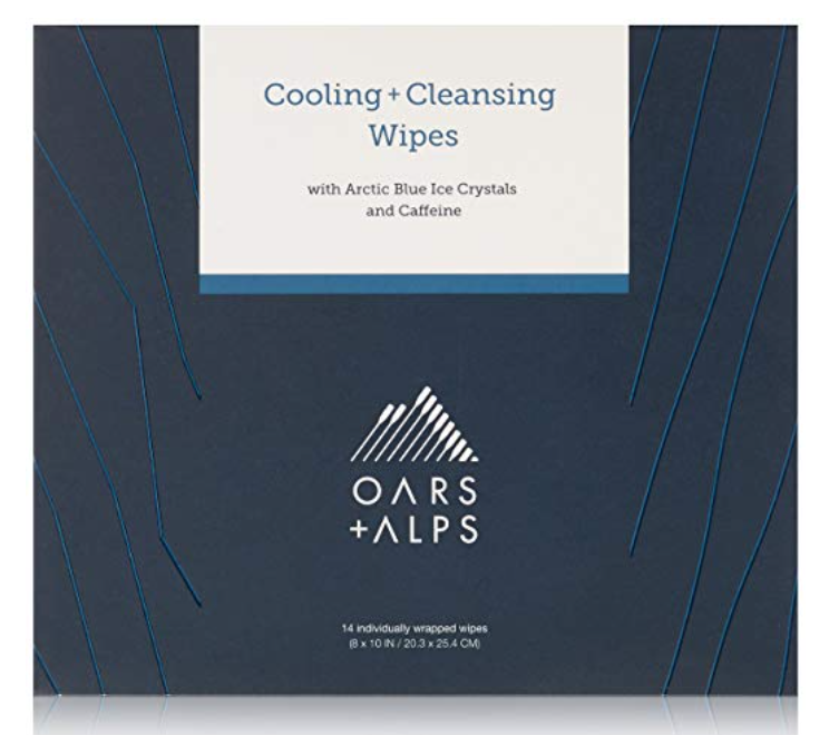 Box of Oars and Alps Cooling and Cleansing wipes for sweaty balls and body