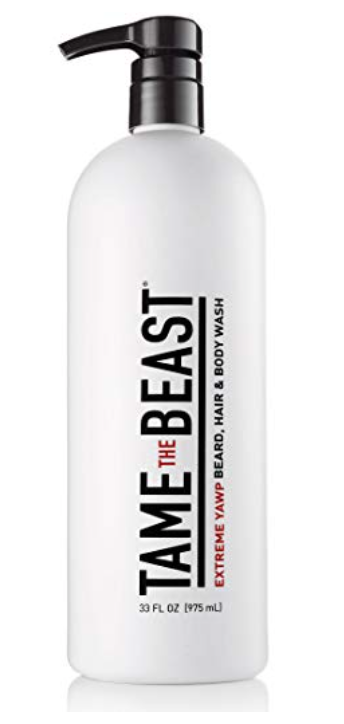 33 ounce bottle of Tame the Beast wash for men's balls and body