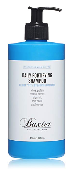 Bottle of Baxter of California Daily Fortifying best smelling shampoo for men.