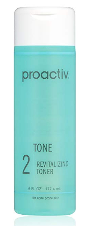 Bottle of proactiv revitalizing toner for oily skin