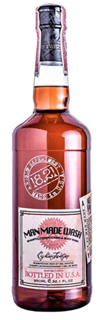 Bottle of 18.21 Man Made Wash for men - 32 ounce bottle
