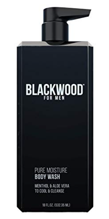 Bottle of Blackwood for men best moisturizing body wash for men