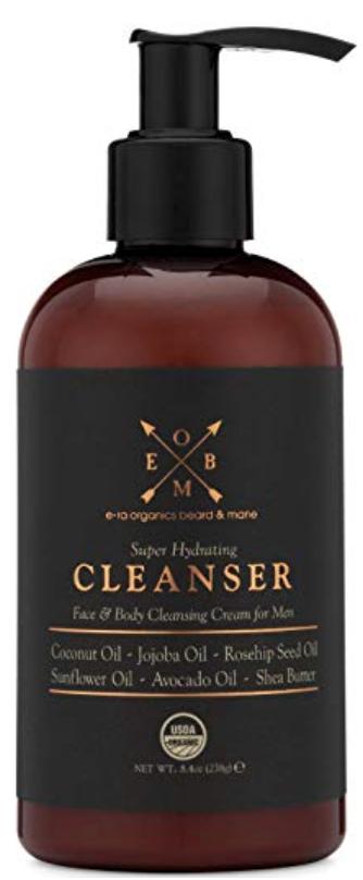 Bottle of Era Organics best men's body wash for dry skin