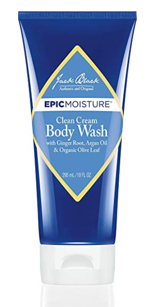 Tube of Jack Black clean cream best men's body wash for dry skin