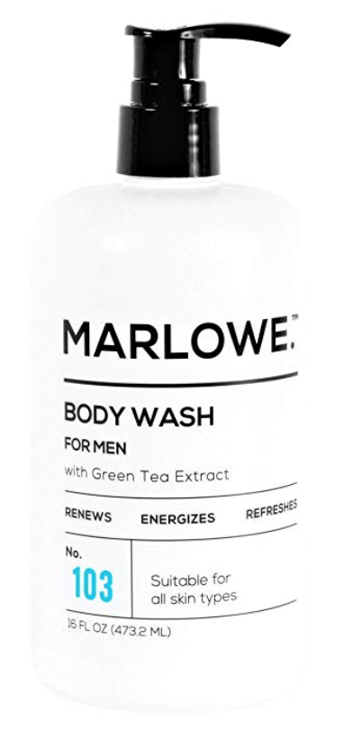Bottle of Marlowe No. 103 best men's body wash for dry skin