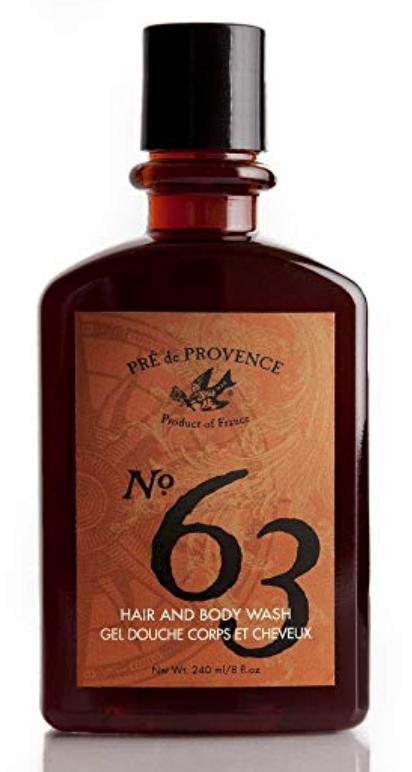 Bottle of Pre de Provence No.63 best smelling body wash for men
