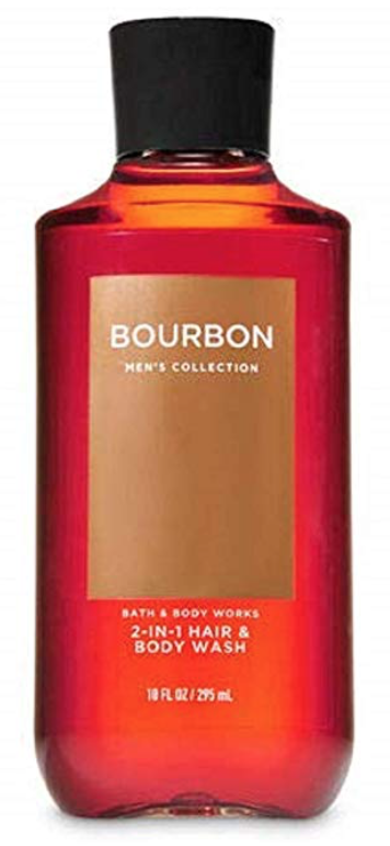 Bottle of Bath and Body Works Bourbon best smelling body wash for men