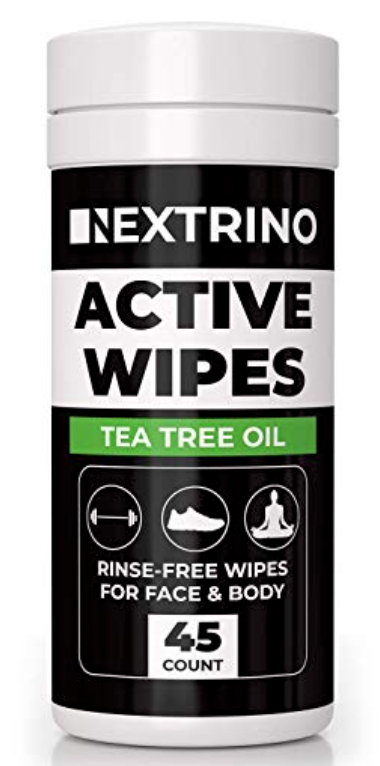 Tub of Nextrino best face wipes for men. 45 count.